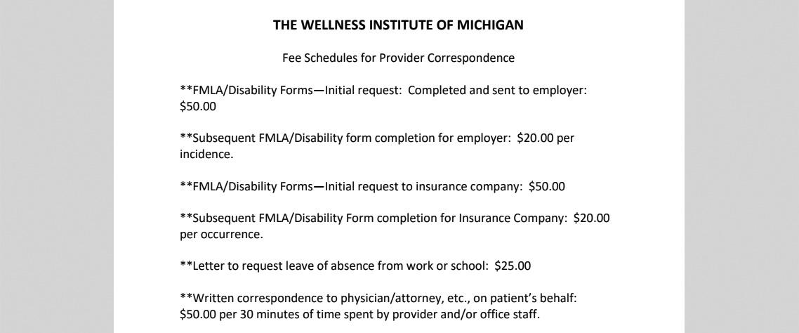 Forms | Wellness Institute of Michigan